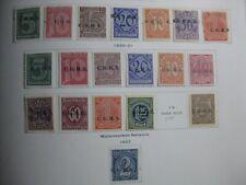 OBERSCHLESIEN UPPER SILESIA GERMAN PLEBISCITES overprint stamp lot! CV $18.35
