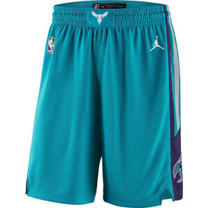 New 2021 Jordan Brand Charlotte Hornets Icon Edition Swingman Performance Shorts