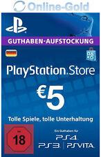 PSN Network 5 Euro Code €5 EUR PlayStation Store Guthaben PS3 PS4 PS Vita - DE
