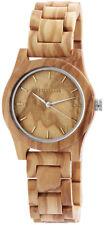 Excellanc Damenuhr aus Holz Uhr Damen Armbanduhr Echt Echtholz Holzuhr leicht