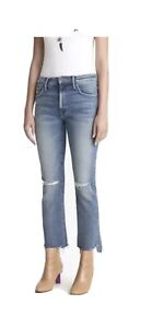 Mother The Insider Crop Step Fray Jeans 31  Reckless On A Shiny White Vespa NWT