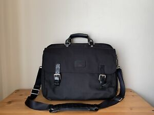 TUMI LAPTOP Briefcase Black Nylon/ Leather with compartments Weekend bag
