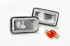 Audi 90 84-91 Clear Side Indicators Repeaters Pair Set Left Right With Bulbs