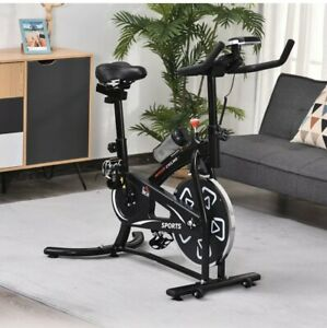 HOMCOM Exercise Training Bike Indoor Cycling Bicycle Trainer LCD Monitor UK
