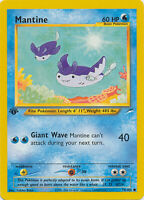 Mantine Common Pokemon Card 1st Edition Neo Destiny 74/105