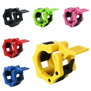 2pcs Olympic 1-2 Spinlock Collars Barbell Dumbell Clips Clamp Weight Bar Lock UK