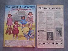 CATALOGUE JOUETS ETRENNES GALERIE LAFAYETTE 1950 PARIS AVEC TOUTE CES PAGES + 1
