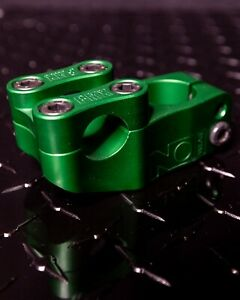 Green Nowear BMX Missing Link bicycle Stem Made in USA Top Load CNC 6061 T6