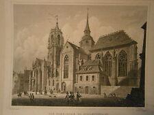 Gravure 19° Alsace Cathedrale de Schlettstadt