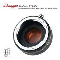 Lens Turbo II adapter for Pentax K mount lens to Sony mount NEX7 VG10 20 α6000