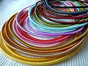 Seidenkordel Seidenkette Seidenband Seide Halsreif Damenkette 3mm Farbwahl 1529
