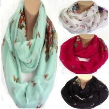 Floral & Butterfly Circle Loop Infinity Scarf Snood New Design spring summer