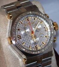 New jptm40 Mens Joe Rodeo Phantom two tone 3.25ct.aprx.50pcs.Diamonds watch.