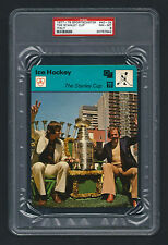PSA 8 THE STANLEY CUP with SAVARD and COURNOYER Sportscaster Hockey Card #40-24