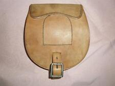 Superb Leather Cavalry Military Horse Shoe & Nails Traveling Pouch.