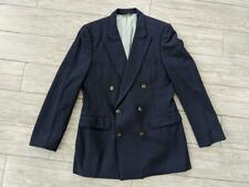 vintage NINO CERRUTI navy blue DOUBLE BREASTED wool 38L two button