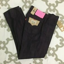 NWT Mens Levis 501 Shrink to Fit Straight Leg Cotton Jeans Denim Purple $69