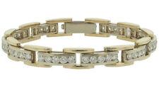 5.00 ct Ladies Round Cut Diamond Tennis Bracelet In 14 kt Two Tone Gold
