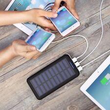Chargeur Solaire Portable PLOCHY 24000mAh Entrée Double et 3 Ports USB Blanc