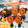 4Pack 12V Amber Motorcycle Indicators Motorbike Bike Turn Signal Lights Bulb NEW