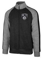 Brooklyn Nets NBA '47 Charcoal Gray Full Zip Match Track Jacket Men's X-Large XL