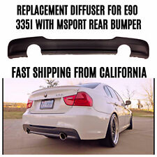 2008-2013 REPLACEMENT REAR  BUMPER DIFFUSER FOR BMW E90 335 SEDAN MTECH M SPORT