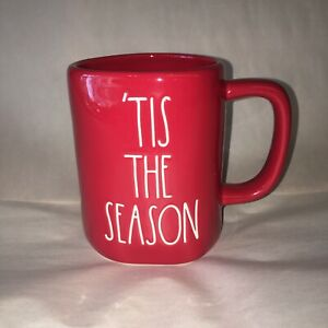 Rae Dunn Tis the Season Christmas Holiday Coffee Mug Red
