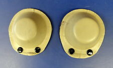 US NAVY/USMC FLYING HELMET LEATHER EAR CUPS- OYSTER COLOR