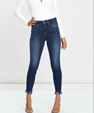 Good American Good Waisted Frayed Hem Jeans AU12