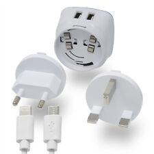 Netzteil 2 USB Ports Adapter für England Typ G Lightning / Micro-USB CMTC43