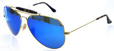 RAY BAN 3029 62 OUTDOORSMAN II GOLD HAVANA LENS BLUE MIRROR REMIX PERSONALIZZATO