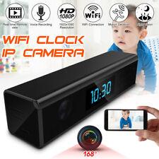 1080P HD 168° Mini WIFI SPY Hidden IP Camera Clock Nanny Video Recorder Wireless