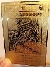 USA seller Yugioh BLUE-EYES WHITE DRAGON Custom Metal Card Golden cards