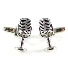 Novelty 3D microphone cufflink antique silver tone microphone cufflink MD0308