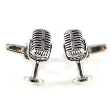 Novelty 3D microphone cufflink antique silver tone microphone cufflink MD0308