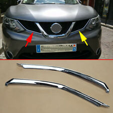 Chrome Grill Strips For Nissan Rogue Sport Qashqai J11 Air-inlet Grille Molding