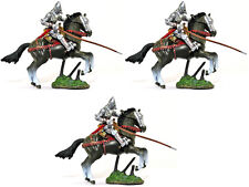 Forces of Valor Three Mounted Knights with Lances - painted soldiers 1:32 scale