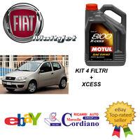 KIT 4 FILTRI TAGLIANDO FIAT PUNTO 188 1.3 MULTIJET MJT + OLIO X CESS 5W40