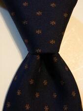 E. MARINELLA NAPOLI Mens 100% Silk XL Necktie ITALY Luxury FLORAL Blue/Brown EUC