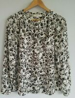 Ann Taylor LOFT Women's Small Long Sleeve Floral Shirt Blouse