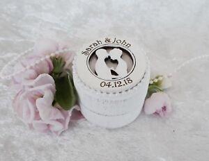 Personalised Wooden Wedding / Engagement Ring Bearer Box