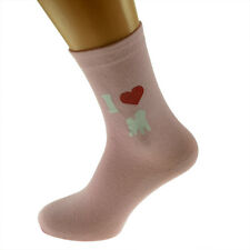 I Love Bichon Frise Ladies Light Pink Socks Bichon Frise Dog Owners Socks X6N293