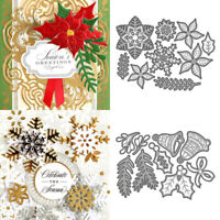 Christmas Snowflake JOY Metal Cutting Die Embossing Stencil Scrapbook Card DIY