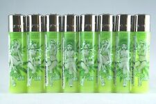 8 pcs New Refillable Clipper Full Size Lighters Mary Jane