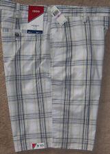 "New Mens IZOD Portsmith Plaid 10.5"" Inseam Flat Front Shorts W38 High Rise $50"
