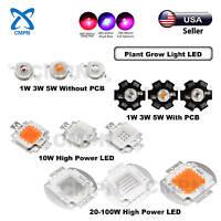 1W 3W 5W 10W 20W 30W 50W 100W High Power LED SMD COB Chip Deep Red Royal Blue