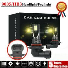9005 LED Headlight Kit 110W 20000LM FOG Light Bulb 3000K Driving DRL Lamp Yellow