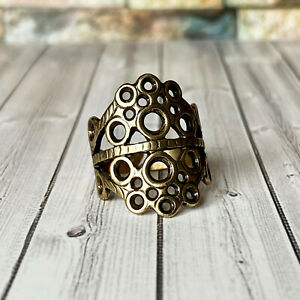 Wide statement ring with ornament, Adjustable size 7,5 - 9 US, Eternal life