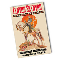 Lynyrd Skynyrd Municipal Auditorium May 25th 1976 11x17 Reproduction Poster