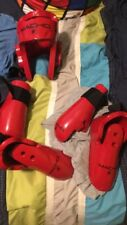 Red medium karate sparring gear in great condition